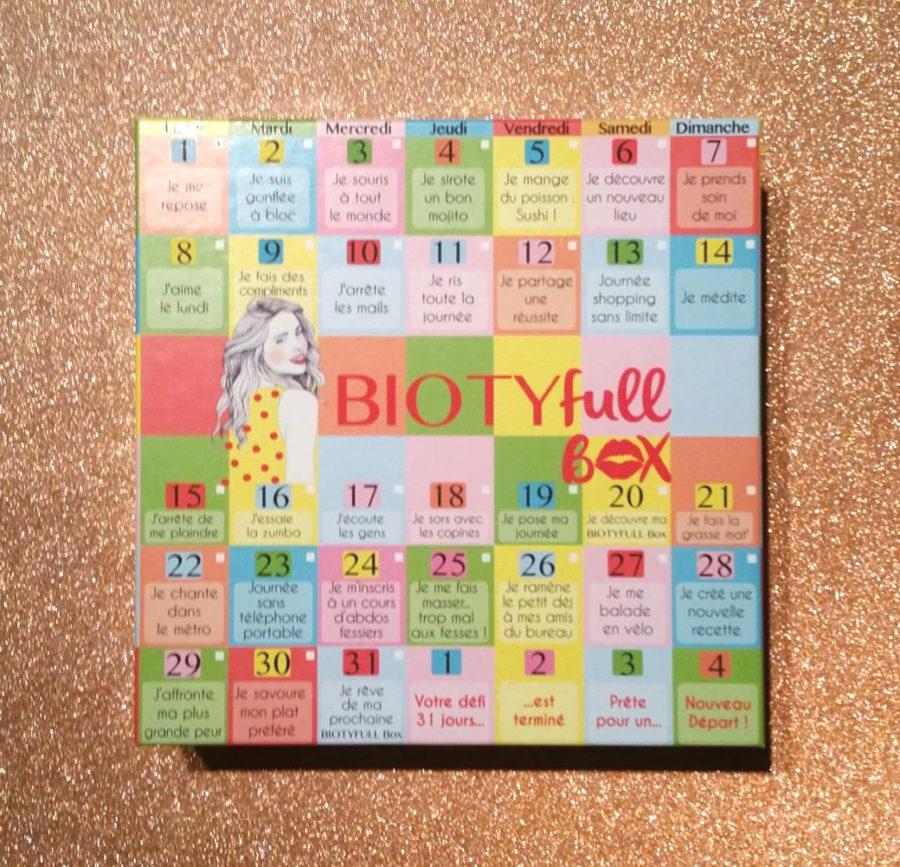 Biotyfull Box de janvier 2018