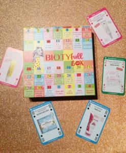 Cartes de la Biotyfull Box de janvier 2018 et box