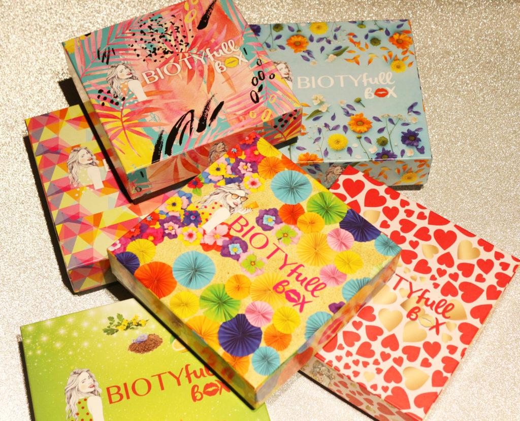 Plusieurs Biotyfull Box de face