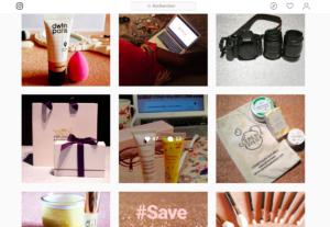Capture d'écran du compte Instagram du blog Glowing Words