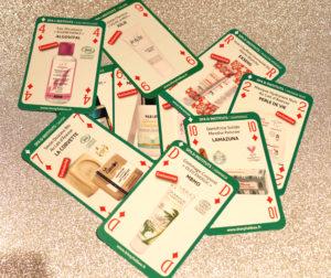Carte des produits pour le corps présents dans les Biotyfull Box