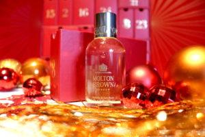 Gel douche Jasmine & Sun Rose de la marque Molton Brown dans la case 8 du calendrier de l'avent Look Fantastic 2018