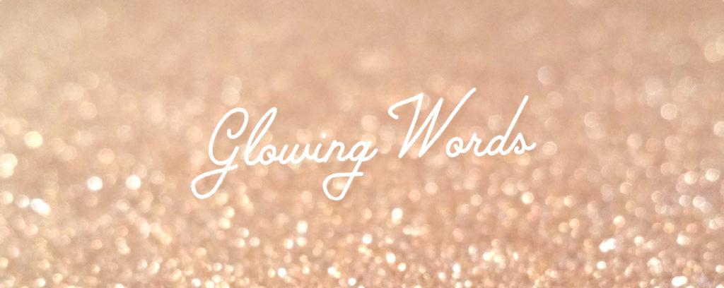 Logo du blog Glowing Words