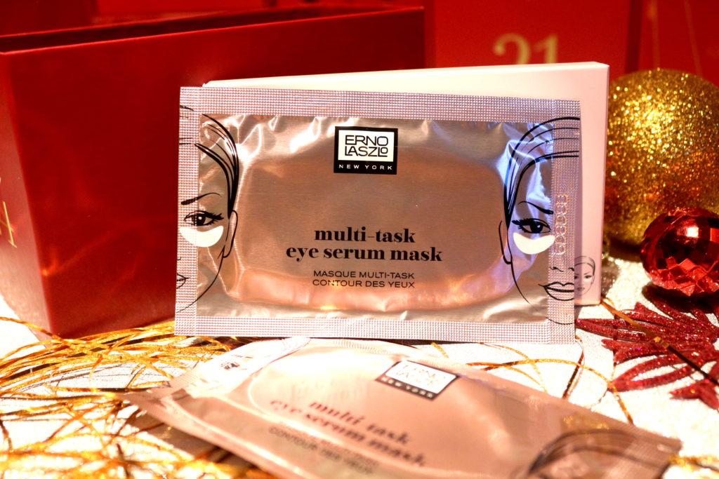 Sachet des patchs pour les yeux Multi Task Eye Serum mask de la marque Erno Laszlo présent dans la case 24 du calendrier de l'avent Look Fantastic 2018