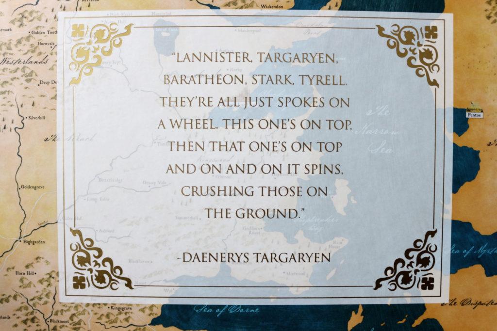 Citation de Daenerys Targaryen dans le vault Urban Decay et Game of Thrones