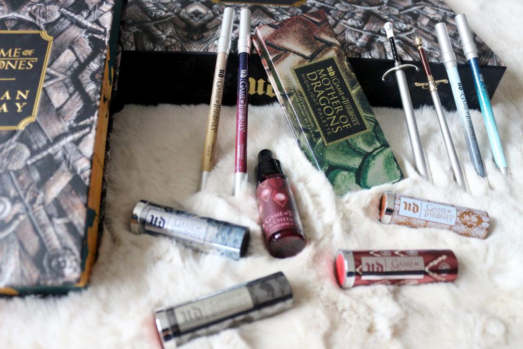 Les produits de maquillage de la collection Urban Decay et Game of Thrones