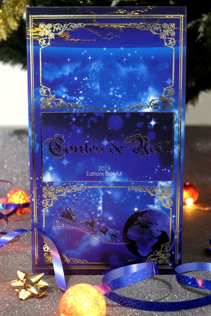 Tranche effet livre de contes de Noël pour le calendrier Biotyfull Box 2019
