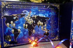 Carte du monde dans le calendrier de l'avent Biotyfull Box 2019