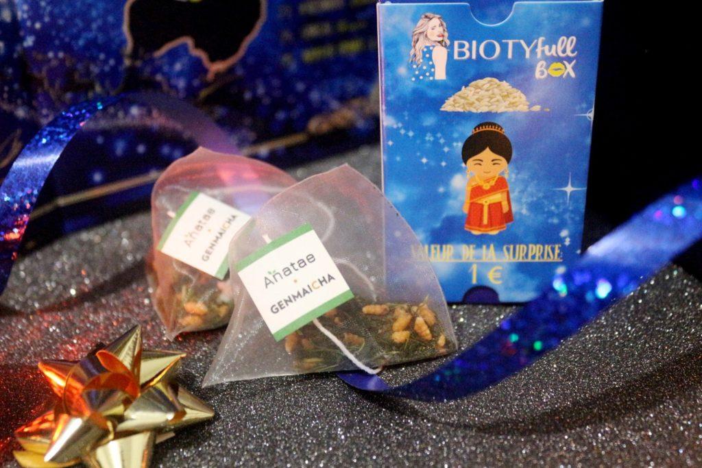 thé genmaicha de Anatae dans le calendrier Biotyfull Box 2019