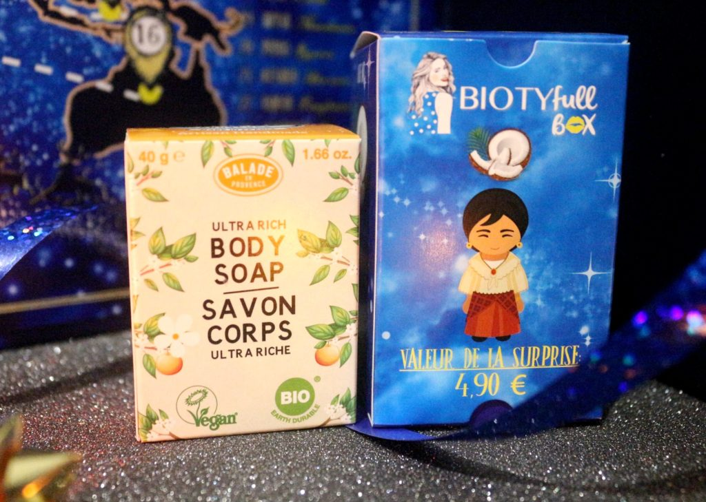 savon corps Balade en Provence dans le calendrier Biotyfull Box 2019