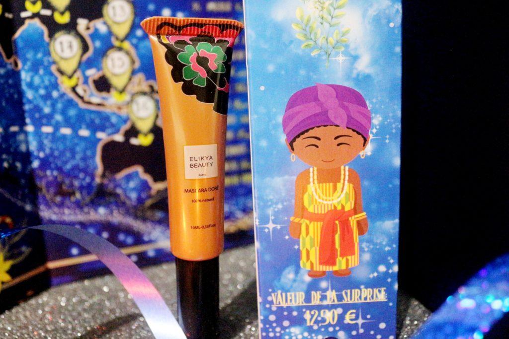 mascara doré Elikya Beauty dans le calendrier Biotyfull Box 2019