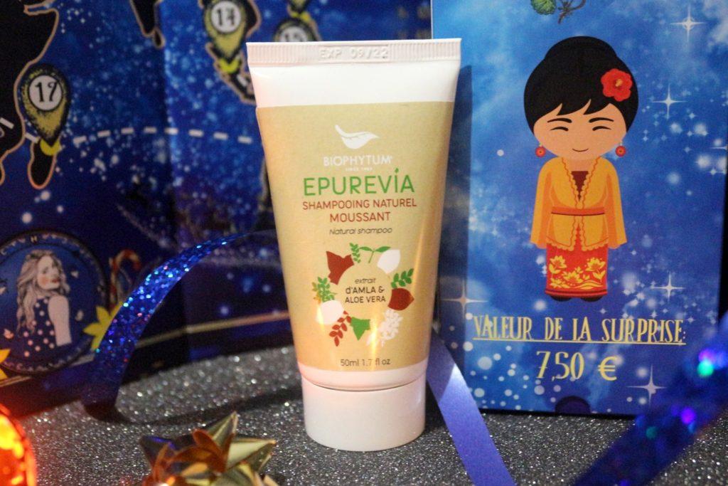 shampoing naturel moussant Epurevia dans le calendrier Biotyfull Box 2019