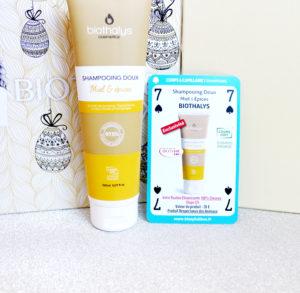 Shampoing doux miel et épices Biothalys dans la Biotyfull Box d'avril 2020