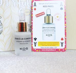 Sérum à la camomille Kos Paris cadeau de fidélité Biotyfull Box