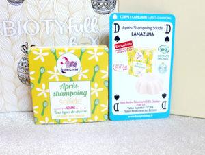 Après-shampoing solide Lamazuna dans la Biotyfull Box d'avril 2020