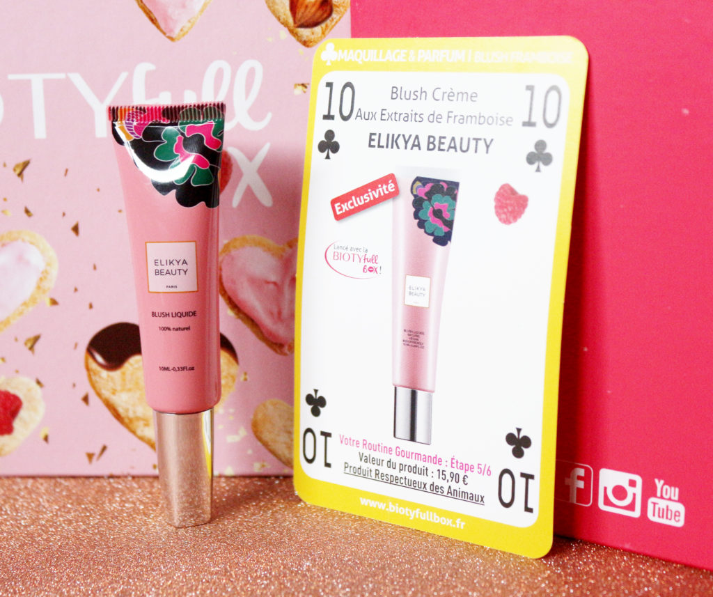 Blush liquide de la marque Elikya Beauty dans la Biotyfull Box de février 2020