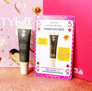 Baume à lèvres de la marque Panier des Sens dans la Biotyfull Box de février 2020