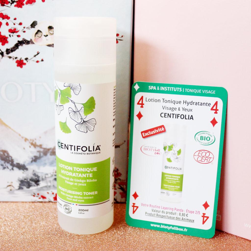 Lotion tonique de la marque Centifolia dans la Biotyfull Box de janvier 2020