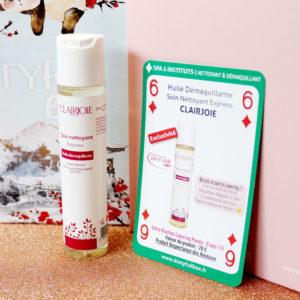 Huilde démaquillante de la marque Clairjoie dans la Biotyfull Box de janvier 2020