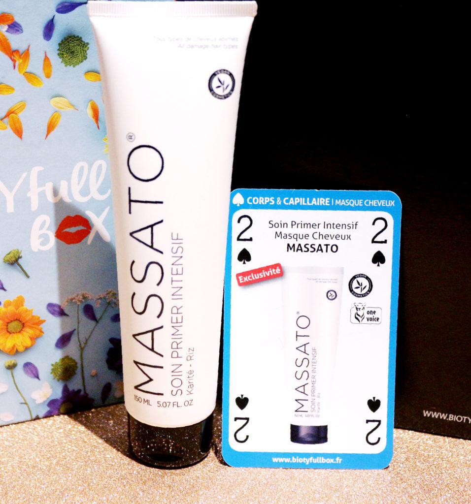 Masque primer Massato dans la Biotyfull Box de mai 2018