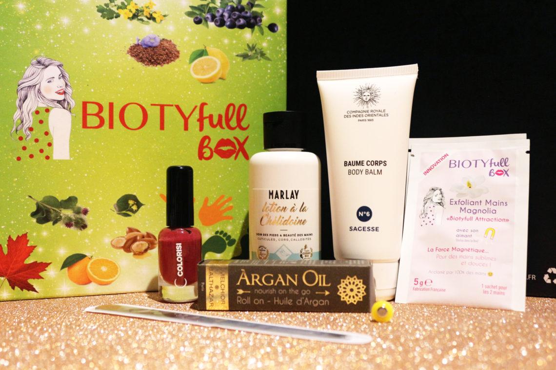 Contenu de la Biotyfull Box de mars 2018