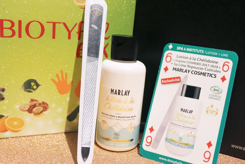 Lotion à la chélidoine de la marque Marlay Cosmetics dans la Biotyfull Box de mars 2018