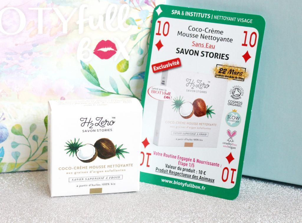 Coco-crème mousse nettoyante Savon Stories dans la Biotyfull Box de mars 2020