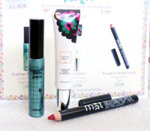 Routine maquillage dans le coffret printanier Biotyfull Box