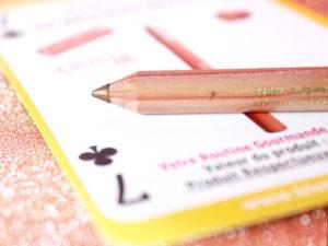 Zoom sur le crayon Marron glacé de la marque De Bruyère