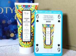 Crème corps So Loucura Baïja dans la Biotyfull Box de décembre 2018