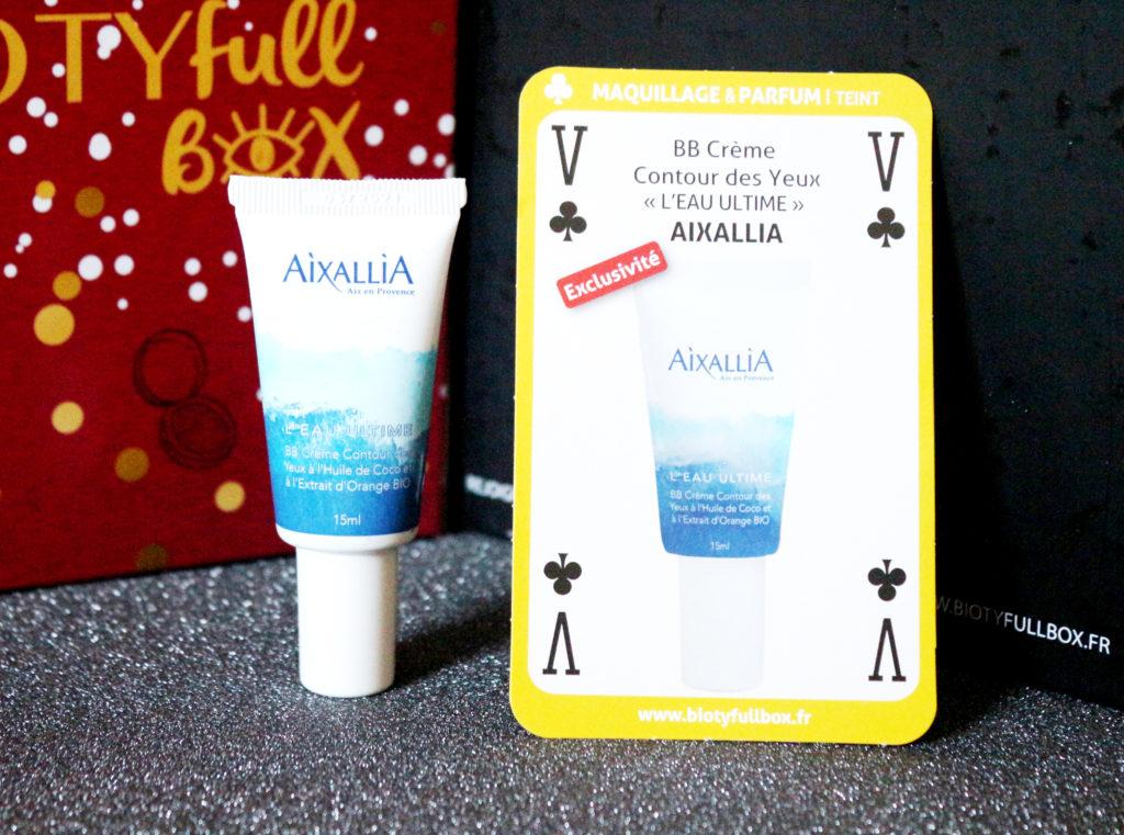 BB crème contour des yeux Aixallia dans la Biotyfull Box de novembre 2018