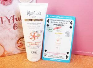 Crème de douche au monoï Marilou Bio dans la Biotyfull Box de novembre 2019