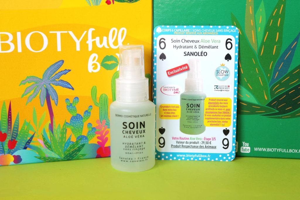 Soin cheveux hydratant et démêlant Sanoléo dans la Biotyfull Box d'août 2020