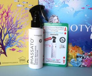 Spray cheveux Beach Wave de la marque Massato dans la Biotyfull Box de juillet 2020
