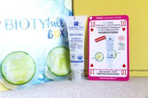 Gel d'eau hydratant et anti-oxydant de la marque Hydroxyderm dans la Biotyfull Box de juin 2020