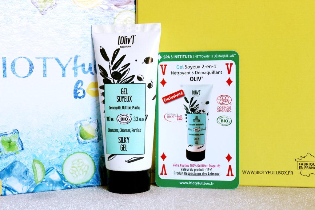 Gel Soyeux nettoyant et démaquillant de la marque Oliv' dans la Biotyfull Box de juin 2020