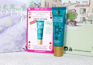 Crème visage pailletée de la marque Sainte Victoire dans la Biotyfull Box de mai 2020