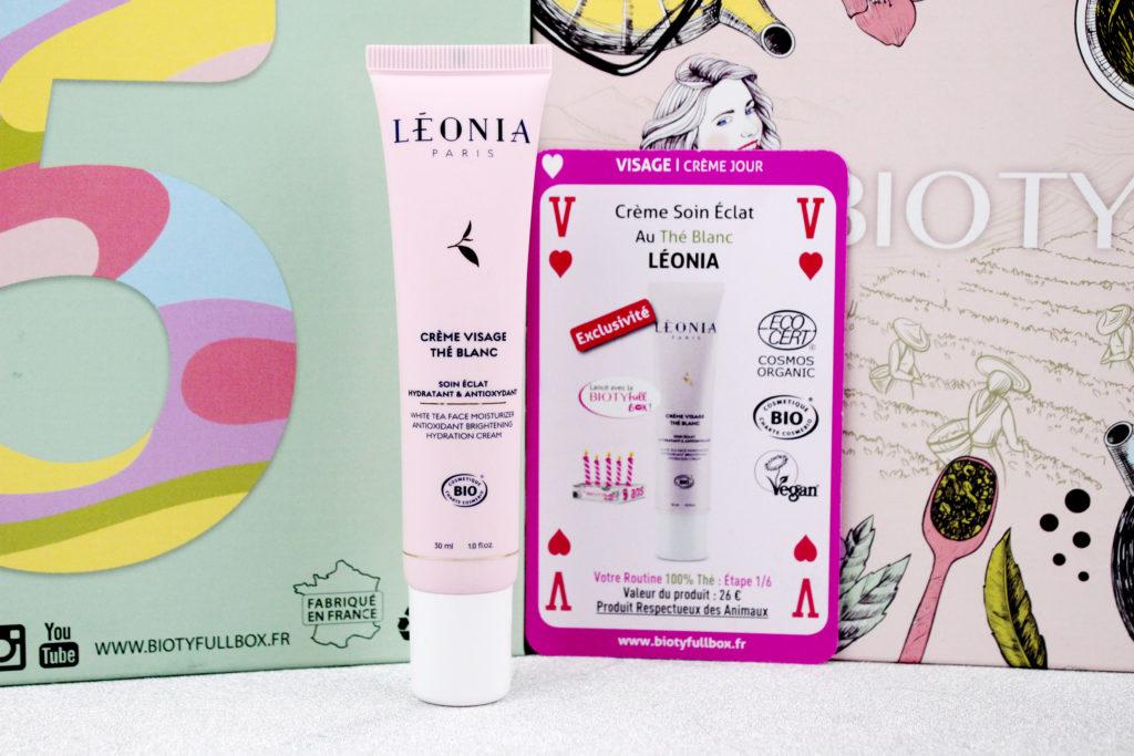 Crème visage Soin Eclat au thé blanc Léonia dans la Biotyfull Box de septembre 2020
