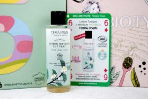 Lotion tonique thé vert Terra Ipsum dans la Biotyfull Box de septembre 2020