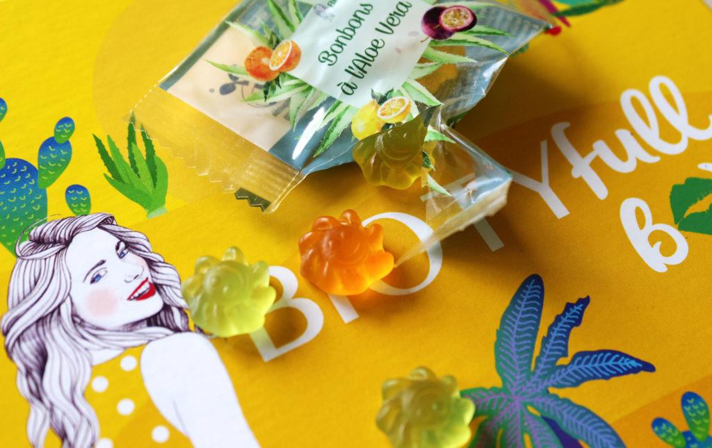 Bonbons vegan à l'aloe vera dans la Biotyfull Box d'août 2020